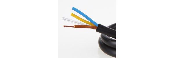 Lampen-Kabel 3-adrig mit Stahlseil