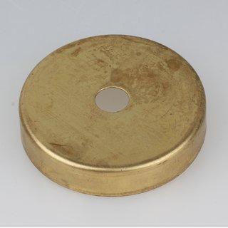 Lampen Abschluß Kaschierung Messing roh 57x11mm mit Mittelloch 10,2mm