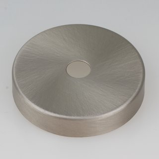 Lampen Abschluß Kaschierung edelstahloptik 57x11mm mit Mittelloch 10,2mm