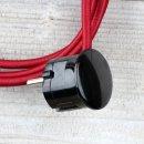 Textilkabel Anschlussleitung Zuleitung 2-5m bordeaux mit...