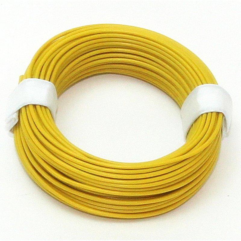 10 meter schaltlitzen kabel gelb 1 adrig 1x0 14mm 1 95. Black Bedroom Furniture Sets. Home Design Ideas