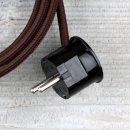 Textilkabel Anschlussleitung Zuleitung 2-5m braun mit...