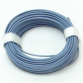 10 Meter Schaltlitzen Kabel grau 1-adrig 1x0,14mm²