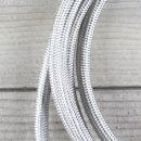 Textilkabel Lampenpendel 1-5m silber mit E14 Fassung Kunststoff weiß