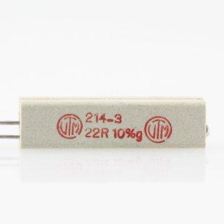 22 Ohm 10% 9W radial Zementwiderstand