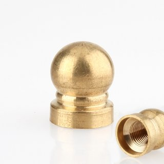 Lampen Abschlussknopf Zierknopf M10x1 mm Innengewinde 16x20 mm Messing roh