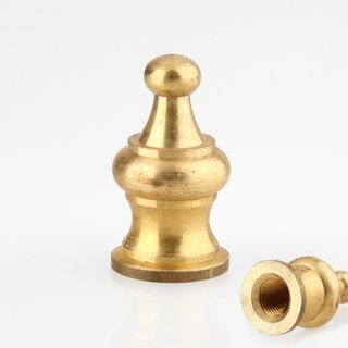 Lampen Abschlussknopf Zierknopf M10x1 mm Innengewinde 18x33 mm Messing roh