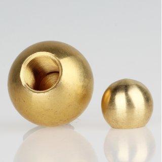 Metall-Kugel Messing roh 50 mm Durchmesser mit M10x1 Sackgewinde