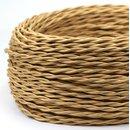Textilkabel Stoffkabel gold 2-adrig 2x0,75 gedreht...