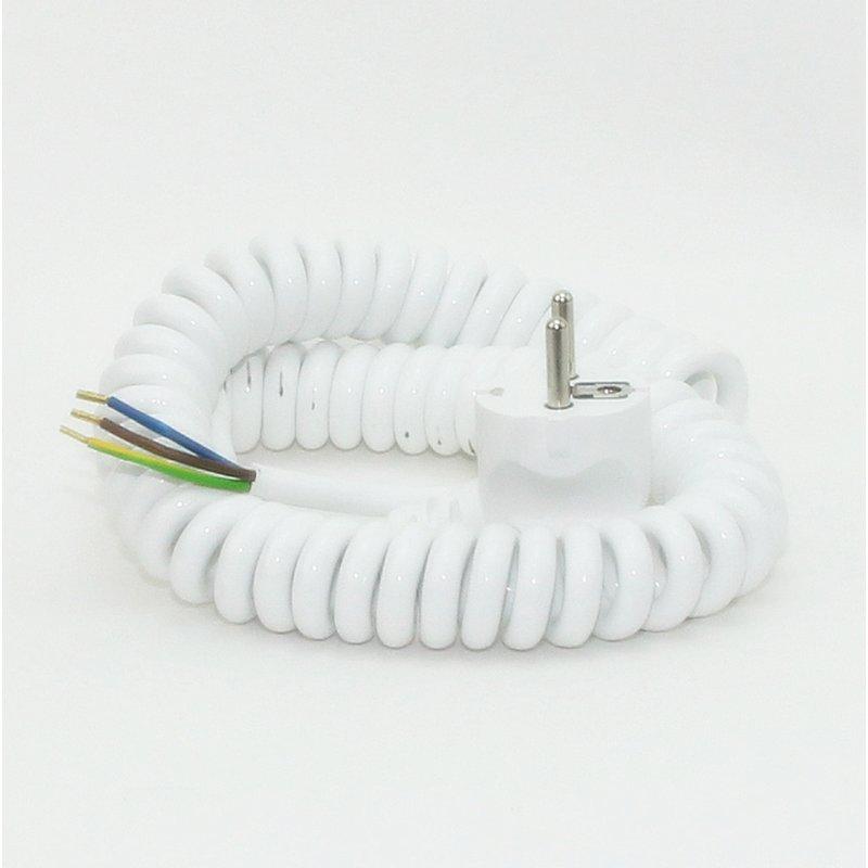 spiralkabel wendelleitung mit schutzkontakt stecker 13 95. Black Bedroom Furniture Sets. Home Design Ideas