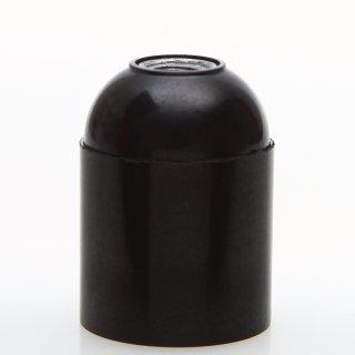 E27 Bakelit Fassung schwarz mit Glattmantel M10x1 IG 250V/4A