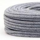 Textilkabel steingrau 2-adrig 2x0,75 Gummischlauchleitung...