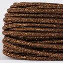 Textilkabel Stoffkabel braun metallic 3-adrig 3x0,75...