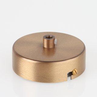 Lampen Metall Baldachin 80x25mm antik fume für 1 Lampenpendel mit Zugentlaster