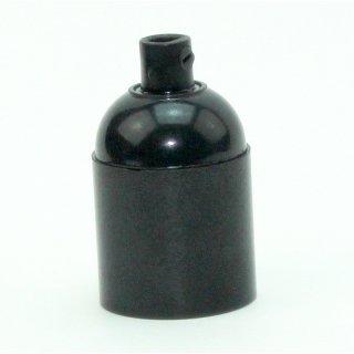 E27 Bakelit Fassung schwarz mit Glattmantel M10x1 IG 250V/4A inkl. Zugentlaster