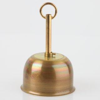 Lampen Baldachin Metall 90x55mm messing roh mit Leuchtenaufhängung