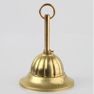 Lampen Baldachin Metall 99x55mm messing roh mit Leuchtenaufhängung