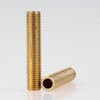 Lampen Gewinderohr Länge 40 mm Messing roh M8x1x40
