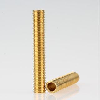 Lampen Gewinderohr Länge 50 mm Messing roh M8x1x50