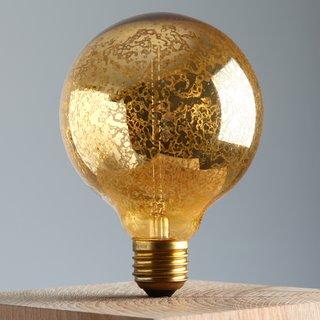E27 Deko Glühlampe Globe Lampe gold 240/40W