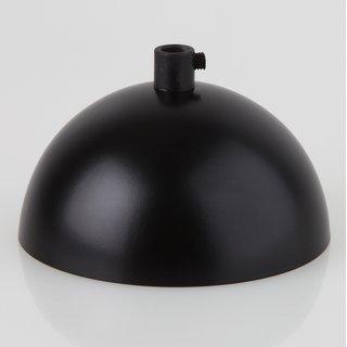 Lampen Baldachin 50x100mm Metall schwarz mit Zugentlaster Kunststoff