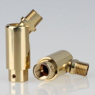 Lampen Dreh-Kippgelenk Messing M10x1 AG auf M10x1 IG  16x48mm