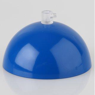 Lampen Baldachin 50x100mm Metall dunkelblau mit Zugentlaster Kunststoff transparent