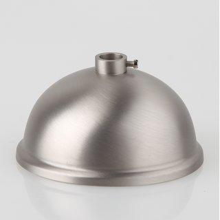 Lampen Baldachin 80x39mm Metall edelstahloptik Kugelform mit 10mm Stellring