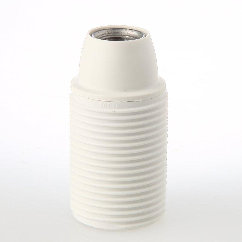 E14 Thermoplast Fassung weiß ohne Außengewinde M10x1 IG 250V//2A