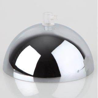 Lampen Baldachin 50x100mm Metall verchromt mit Zugentlaster Kunststoff transparent