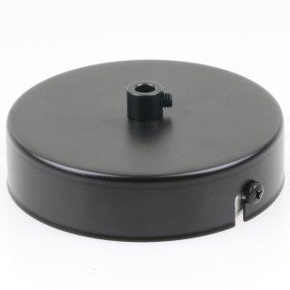 Lampen Metall Baldachin 100x25mm schwarz für 1 Lampenpendel mit Zugentlaster aus Metall