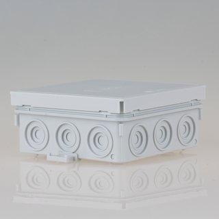 Abzweigdose Verteilerdose grau 100x100x40 mm AP/FR 12 Einführungen iP54