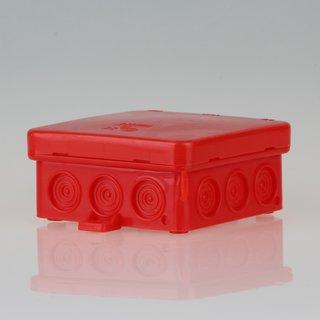 Abzweigdose Verteilerdose rot 85x85x40 mm AP/FR 12 Einführungen iP54