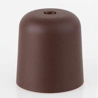 Lampen Baldachin 65x65mm Kunststoff braun Zylinderform