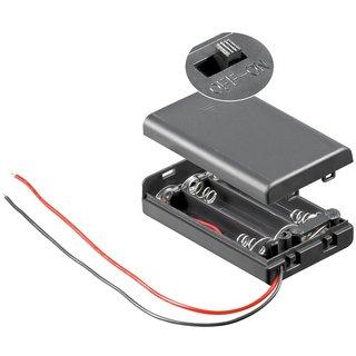 Batteriehalter für 3x Microzelle (AAA) Gehäuse mit Schalter