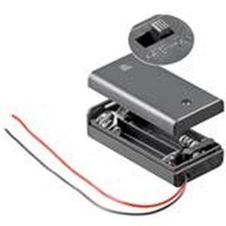 Batteriehalter für 2x Mignonzelle (AA) Gehäuse mit Schalter