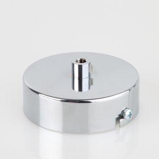Lampen Metall Baldachin 80x25mm verchromt für 1 Lampenpendel mit Zugentlaster
