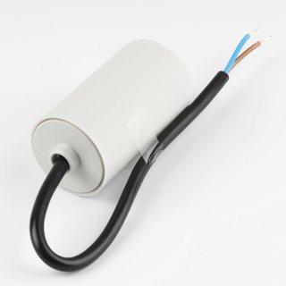 4uF 450V Anlaufkondensator Motorkondensator mit Kabel spritzwassergeschützt