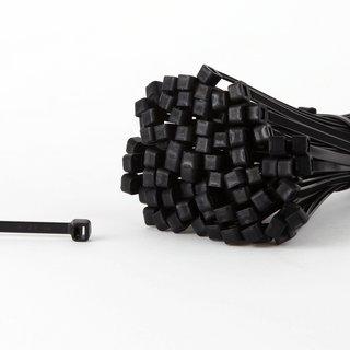 100 Kabelbinder schwarz 200 x 4,8 mm