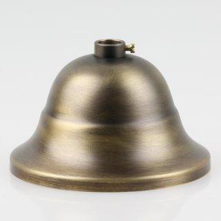 Lampen Baldachin Metall 90x61mm flaemisch antik fume mit Stellring fuer 10mm Pendelrohr