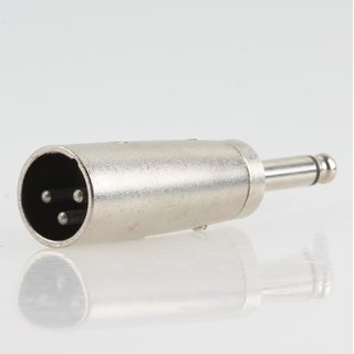 XLR-Adapter 3-pol Stecker auf 6,3mm Mono Klinken-Stecker