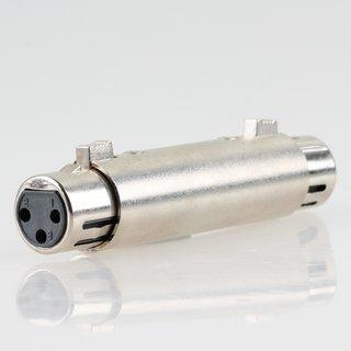 XLR-Adapter 3-pol Kupplung auf 3-pol Kupplung