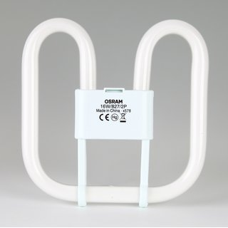 2-Pin Osram CFL Square 16W/827/GR8, 2D Kompakt-Leuchtstofflampe warmweiß