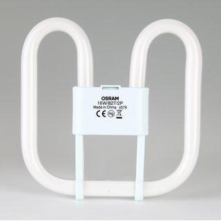 2-Pin Osram CFL Square 28W/827/GR8, 2D Kompakt-Leuchtstofflampe warmweiß