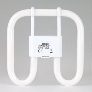 4-Pin Osram CFL Square 16W/827/GR10q, 2D Kompakt-Leuchtstofflampe warmweiß