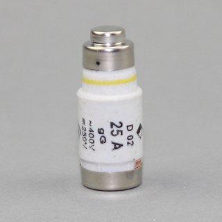 10 x Neozed Sicherungs Schmelzeinsatz D02 25A gelb 250/400V