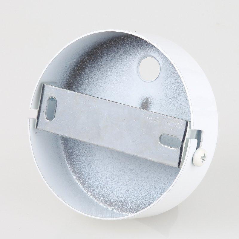 lampen metall baldachin 80x25mm weiss f r 2 lampenpendel 19 95. Black Bedroom Furniture Sets. Home Design Ideas