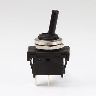 Lampen Einbauschalter Einbau-Kippschalter mit Flachstecker 4,8mm M 12 Aus 1-polig