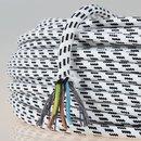 Textilkabel Stoffkabel schwarz-weiß 3-adrig 3x0,75 Zug-Pendelleitung S03RT-F 3G0,75