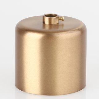 Lampen Baldachin 62x63mm Metall antik fume Zylinderform mit Stellring fuer 10mm Pendelrohr